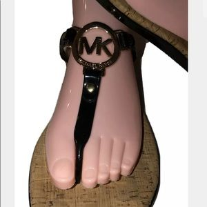 Michael Kors Womens  Sandals Size 10 Cork Logo
